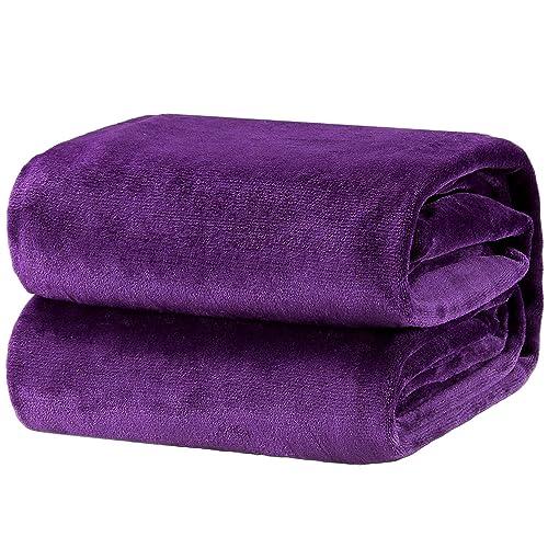 Dark Purple Throw Blanket Amazon Com