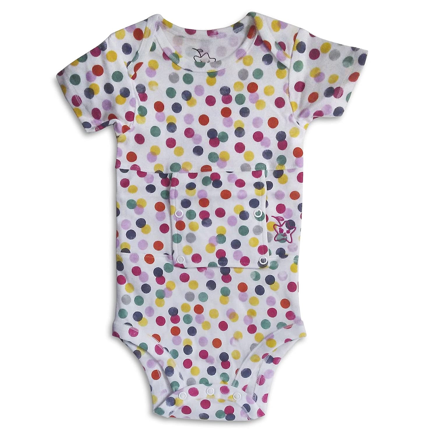 g-tube bodysuit for babies, toddlers and children (2 Fits 20-26 lb, confetti) (9M)