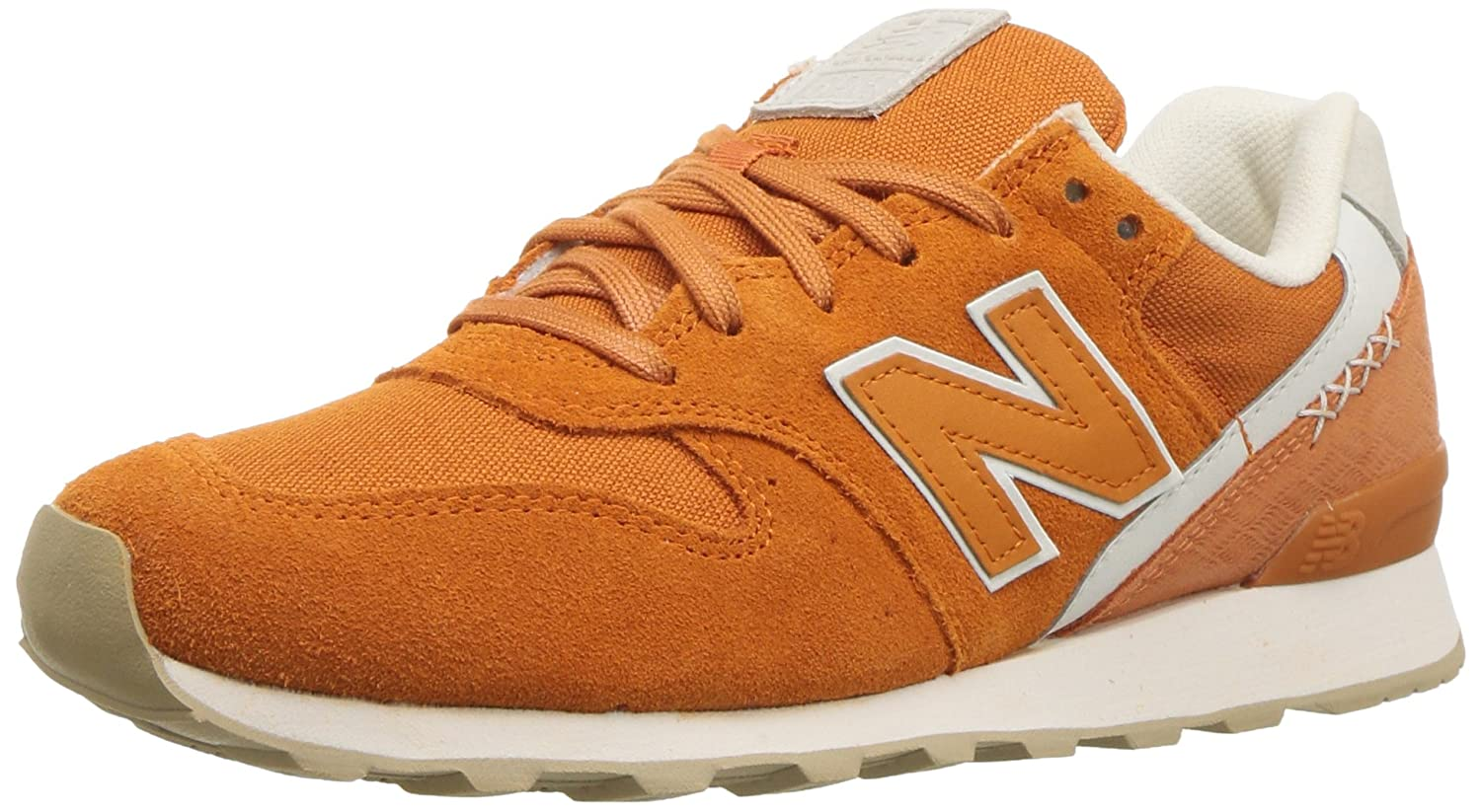New Balance Women's 696 v1 Sneaker B0751GMFWL 12 B(M) US|Vintage Orange/Sea Salt