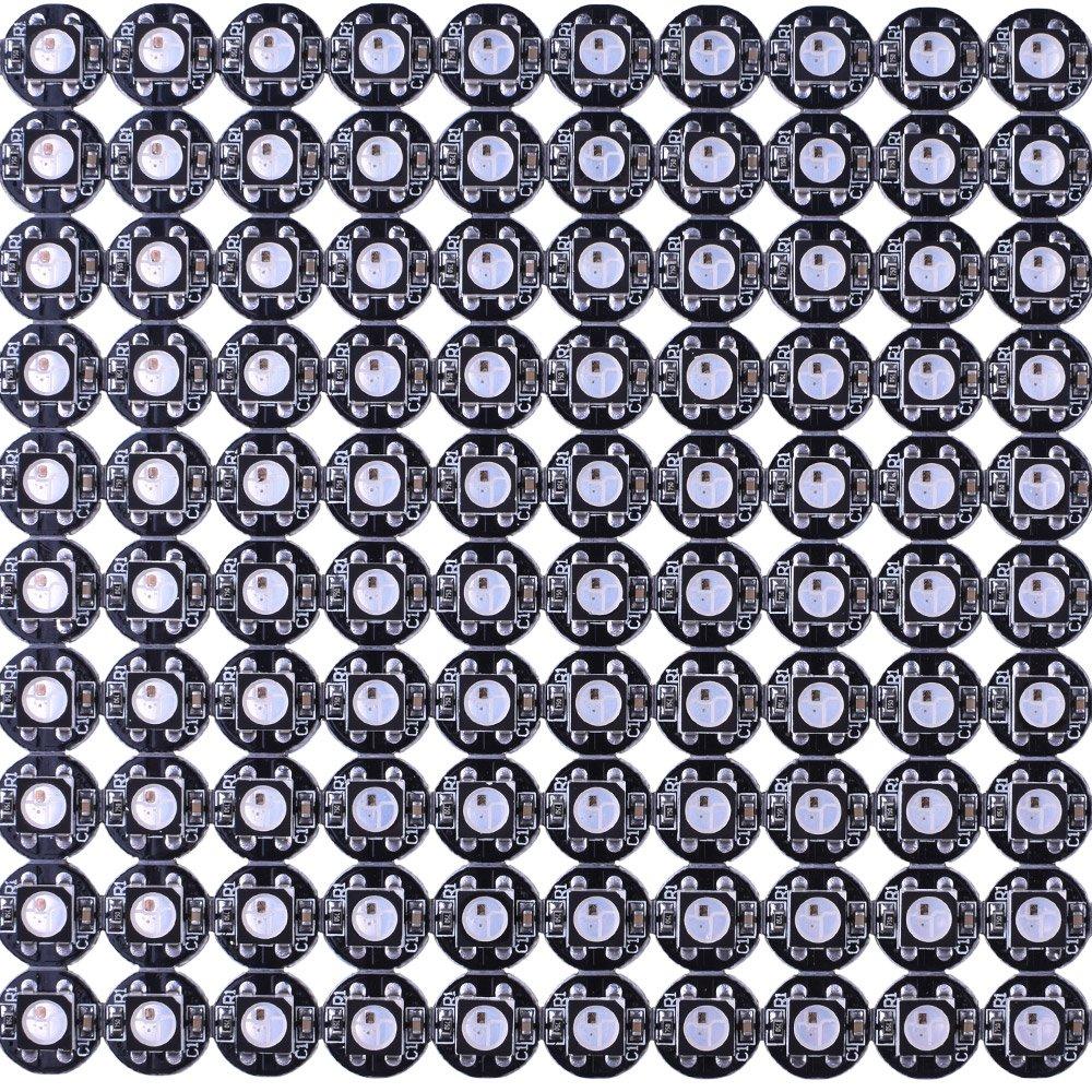 Rouge 4puces en 1 Kuman GBW 100pcs LED Pixel RGB Individuel Blanc LED Matrix Petites LED pour Arduino Uno R3 Nano d/émarrage kit Vert Module LED Bleu Couleur Pixel