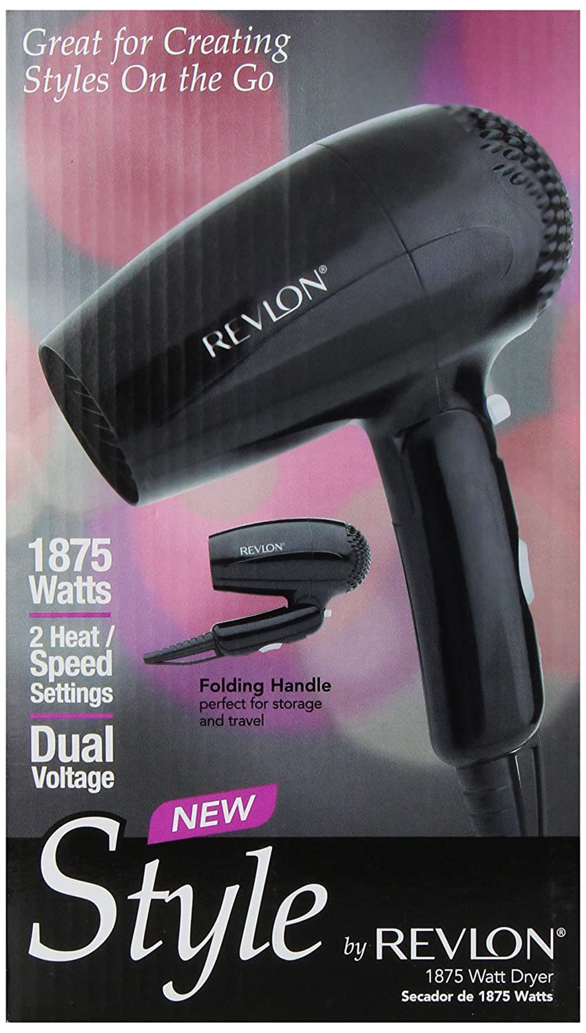 Amazon.com: Revlon 1875 Watt Compact Stylist Dryer, Black (Model Rvdr5033): Prime Pantry