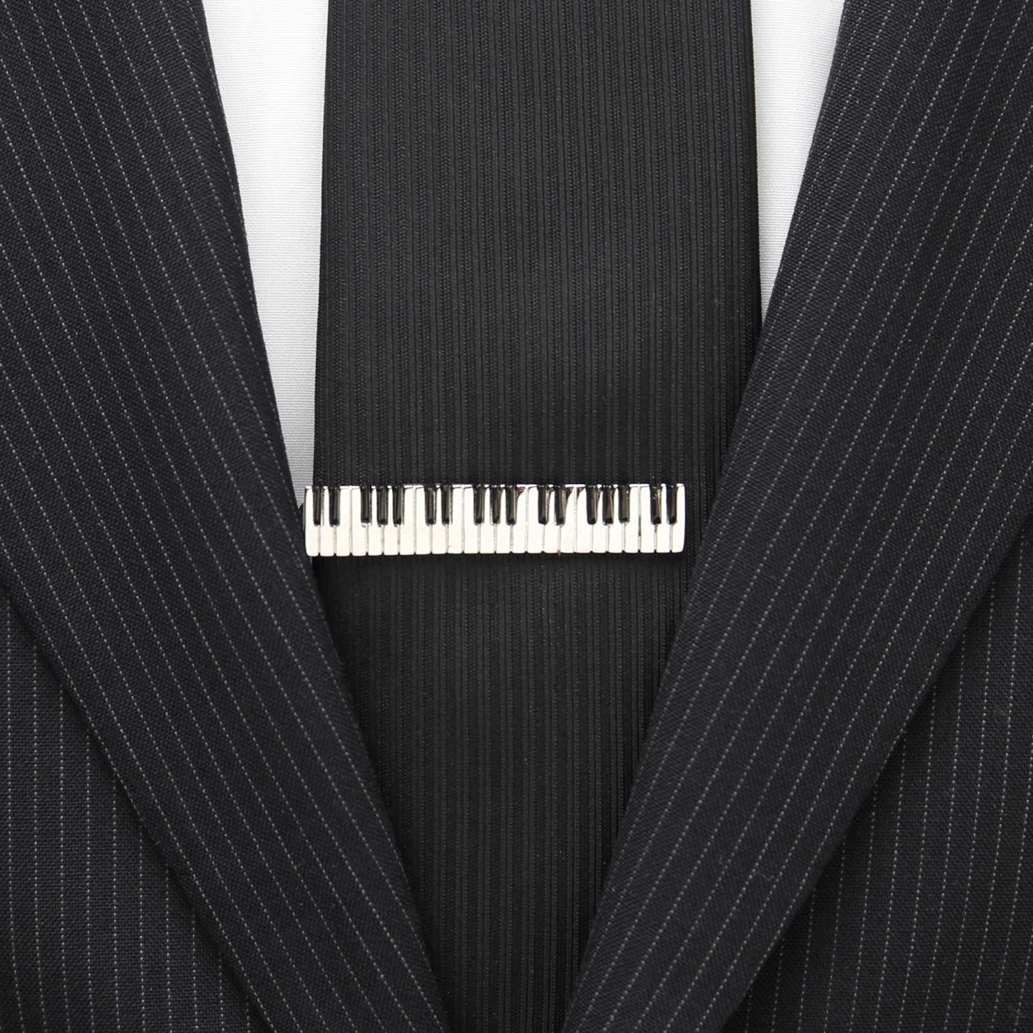 Piano Keys Tie Clip Ox and Bull Trading Co