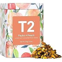 T2 Tea Packs a Peach Fruit Tea, Loose Leaf Fruit Tea in  in T2 Icon Tin, 100 g
