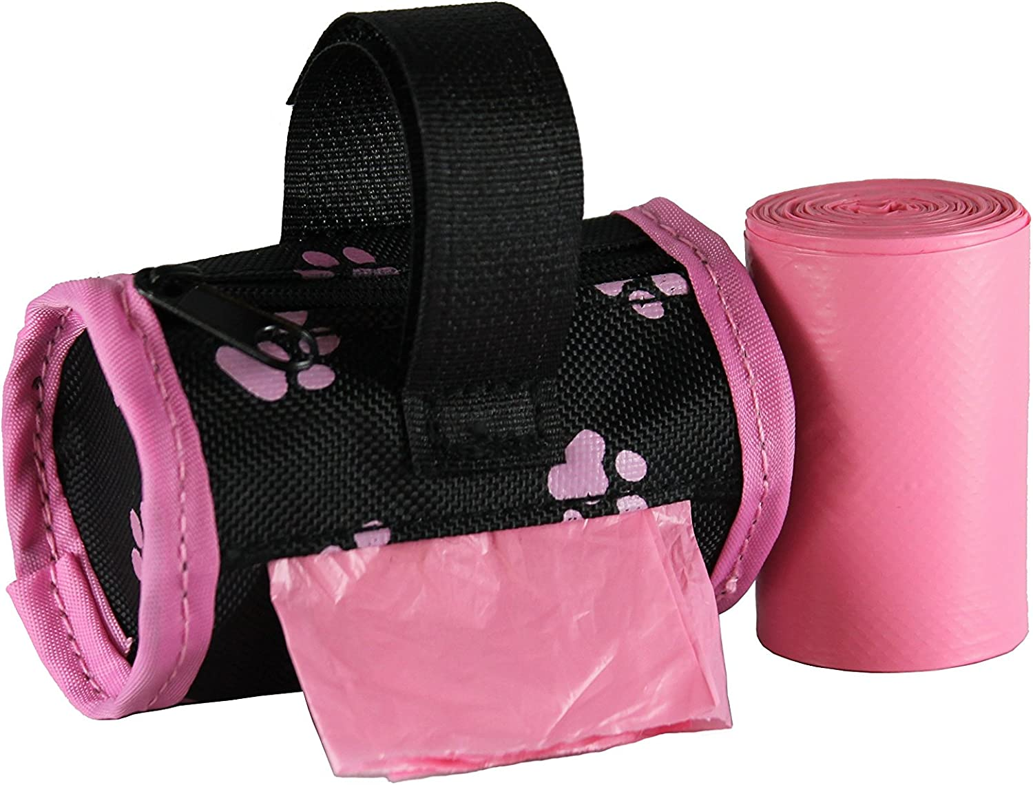 Five Star Pet Barrel Style Dispenser with 2 Rolls Made in USA Easy Open Poop Bags Dog Waste Bags