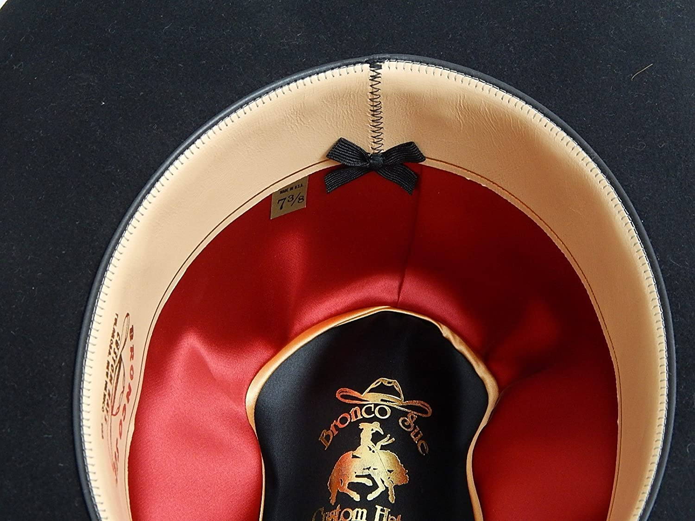 47c27ce1 Amazon.com: A 280 - 100X Pure Beaver Cattleman's Style Felt Hat: Handmade