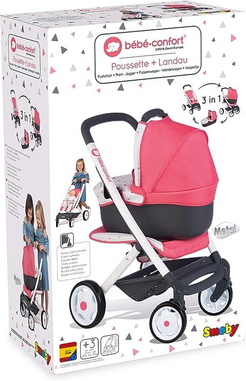 Amazon.es: Cochecito, capazo y sillita 3en1 de Bebé Confort (Smoby ...