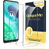 UniqueMe [3-pack] skärmskydd för Motorola Moto G8 härdat glas, skärmskydd film med anti-repor, bubbelfri anti…