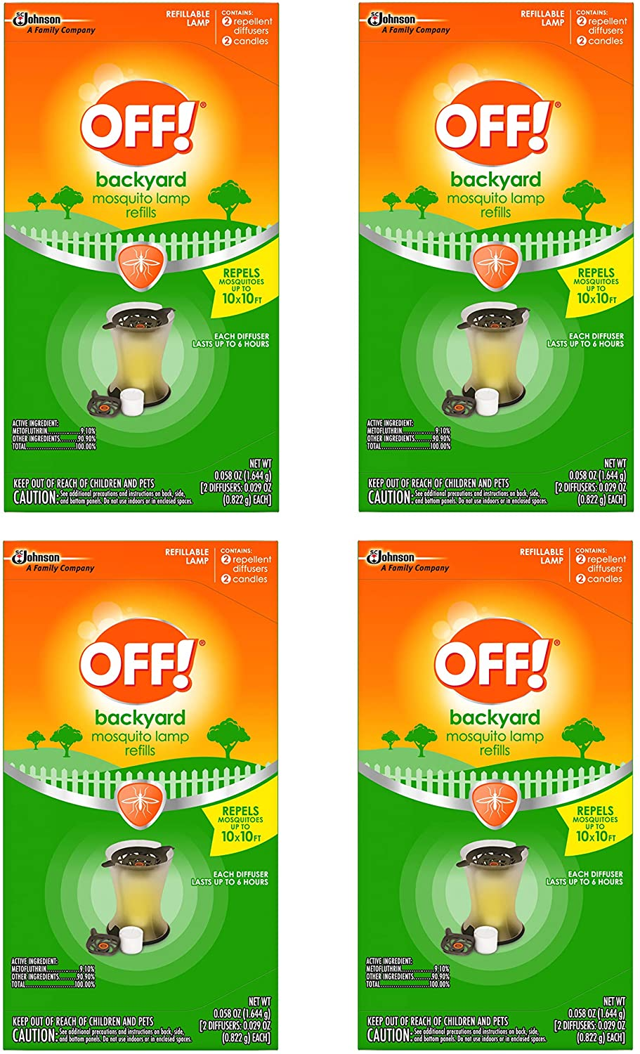 5% OFF OFF Mosquito Lamp Refill 2 New arrival - CT 4 Pack
