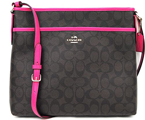 Coach Signature File Bag - Brown Pink Ruby  Amazon.co.uk  Shoes   Bags d0dfba5ff8bbf