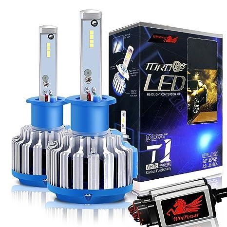 WinPower H1 LED Faro Bulbos Todo en uno Kit de conversión CREE 70W 7200Lm 6000K Efecto