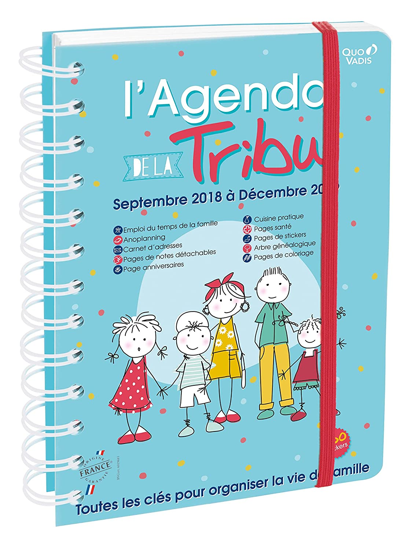 Quo Vadis Tribu AGENDA DE LA TRIBU Agenda scolaire 15x21cm Année 2018-2019 648001Q