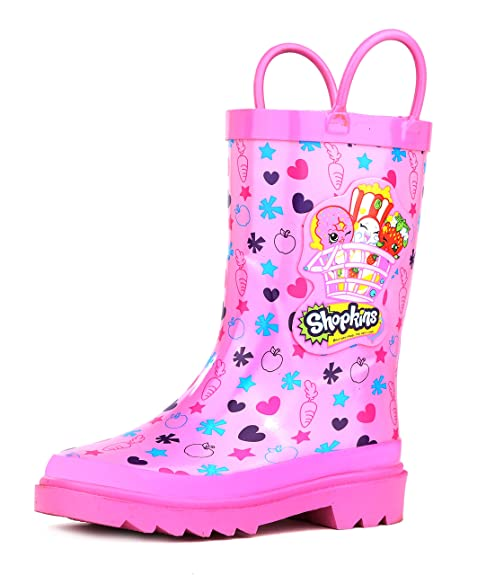 Shopkins niña de Color Rosa Botas de Lluvia (Toddler/Little Kids)