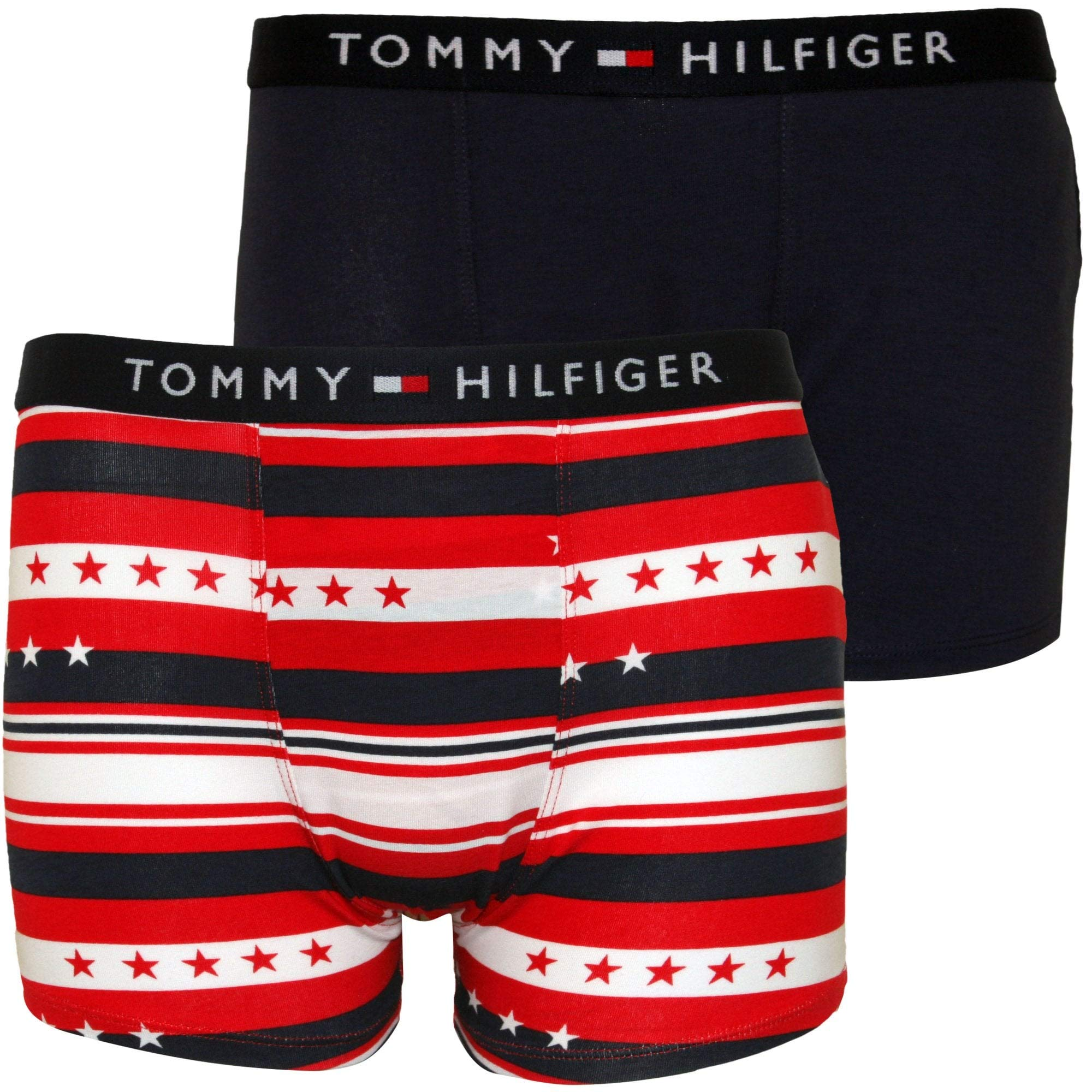 Tommy Hilfiger 2-Pack Stars & Stripes Boys Boxer Trunks, Navy/Red Age 10-12 Navy Blue/Red