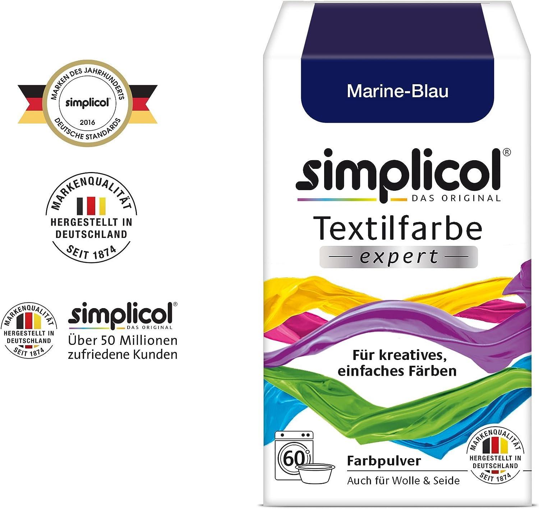 Simplicol Expert Fabric Dye Tinte de Coloración para Textiles: Lavado a Mano o Lavadora - Tiñe y Restaura Sus Telas y Ropa - Azul Marino