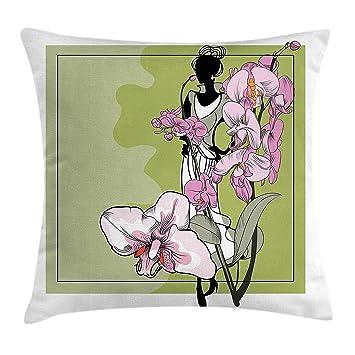 Funda de cojín Fashion Throw Pillow, boceto artístico ...