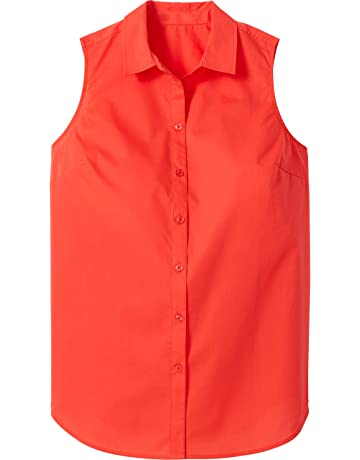 2dc24595 Woman Within Women's Plus Size Perfect Button Down Sleeveless Shirt