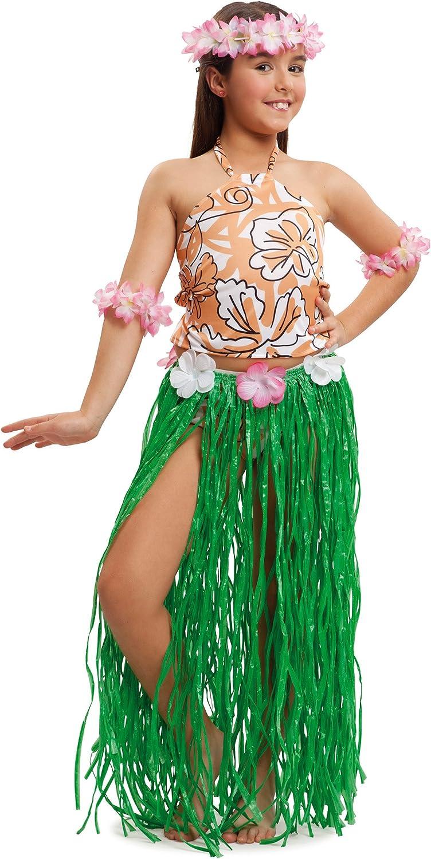 VIVING - Disfraz infantil hawaiana 7/9 años: Amazon.es: Juguetes y ...
