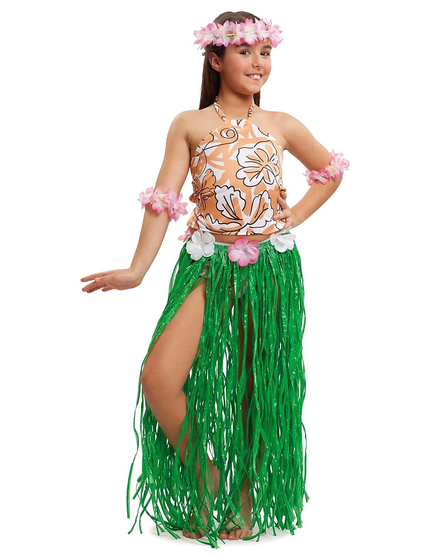 VIVING - Disfraz infantil hawaiana 3/4 años: Amazon.es ...