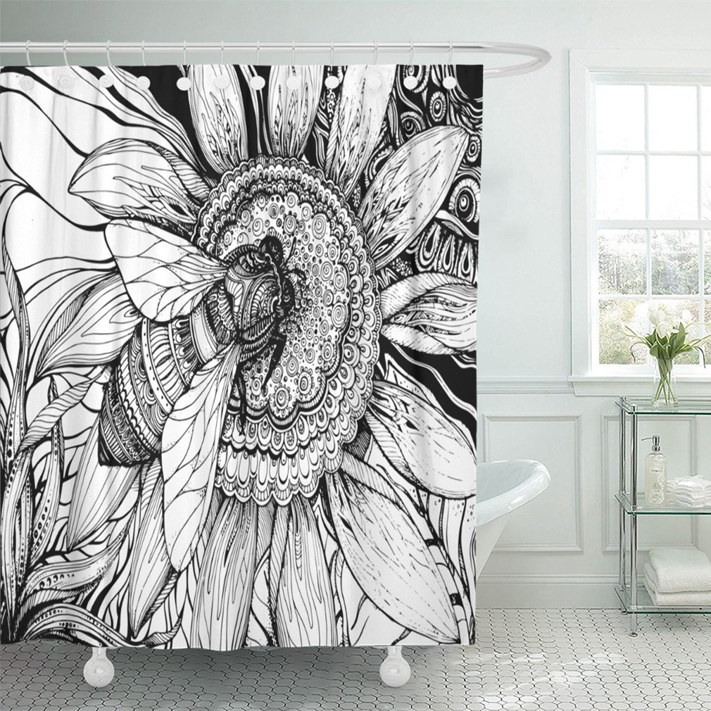 Emvency 66x72 Shower Curtain Waterproof Green Dino Pattern for Textiles Original Design with Rex Dinosaur Grunge for Boys Home Decor Polyester Fabric Adjustable Hook