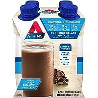 Atkins Gluten Free Protein-Rich Shake, Dark Chocolate Royale, 4 Count
