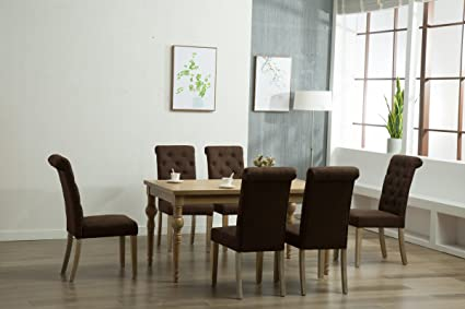 Amazoncom Oliver Smith Roosevelt Collection Piece Dining - Washed oak dining table and chairs