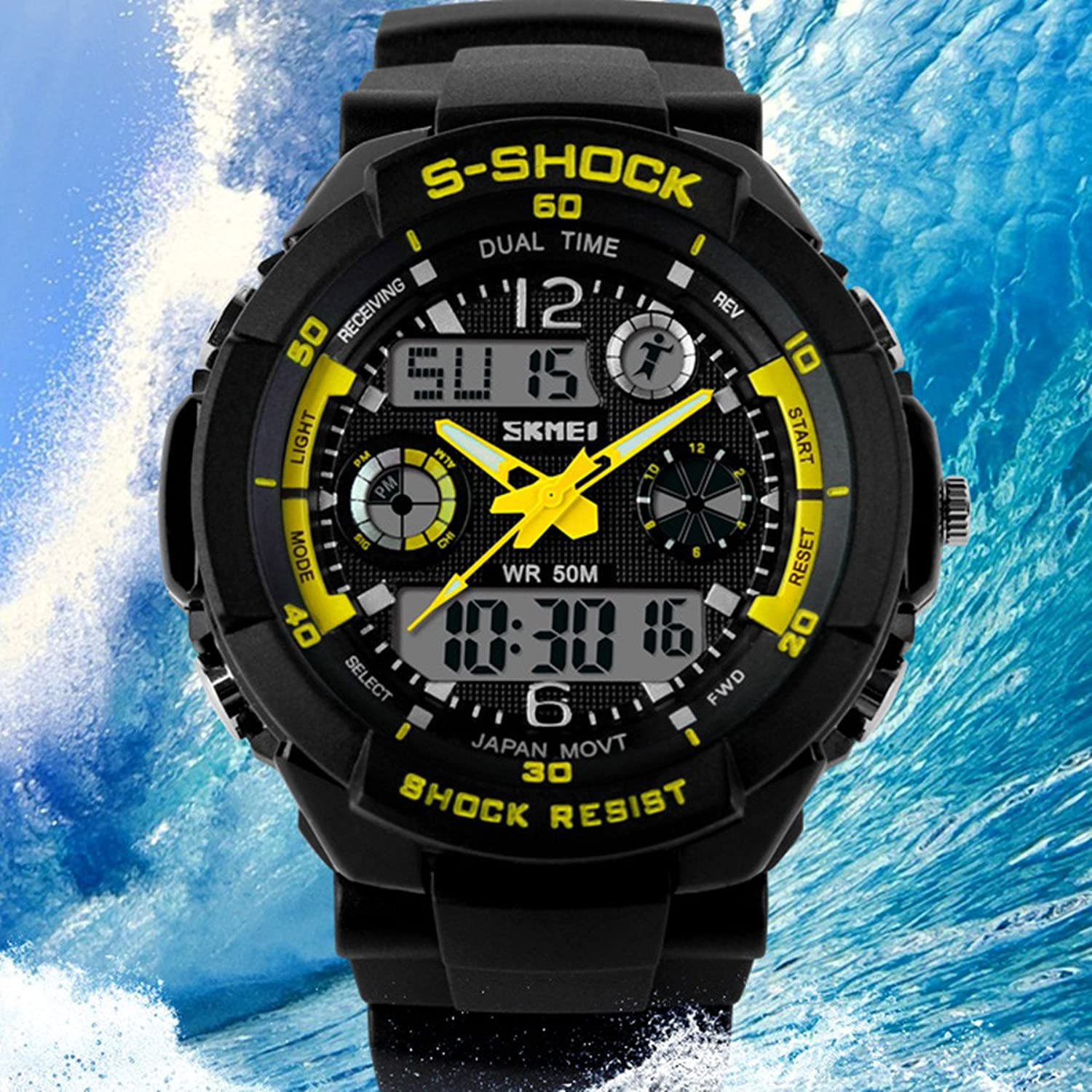 Amazon.com: Relojes de Hombre Sport LED Digital Military Water Resistant Digital Men Watch: Watches