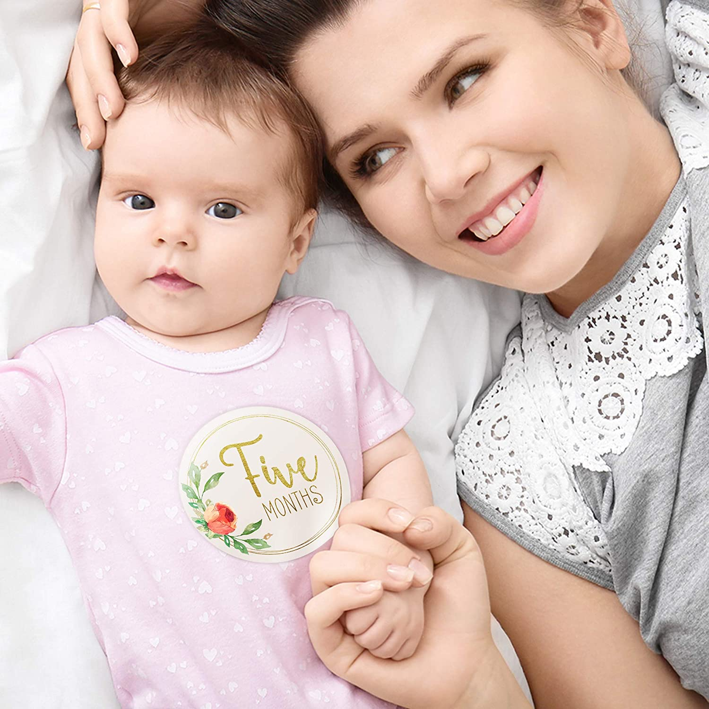 Amazon.com: Pegatinas para bebé con diseño de hitos de bebé ...