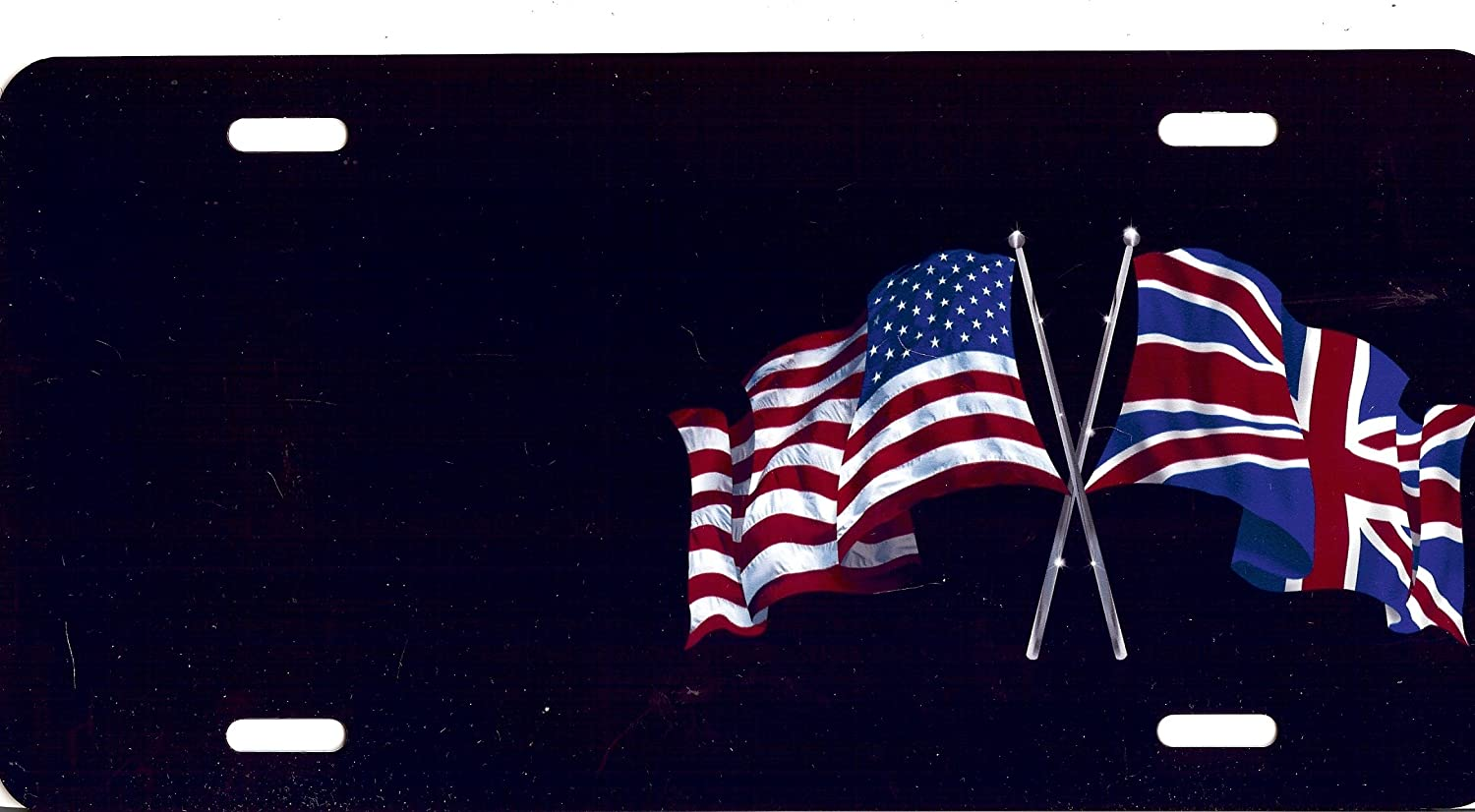 British Flag Photo License Plate Free Personalization on This Plate