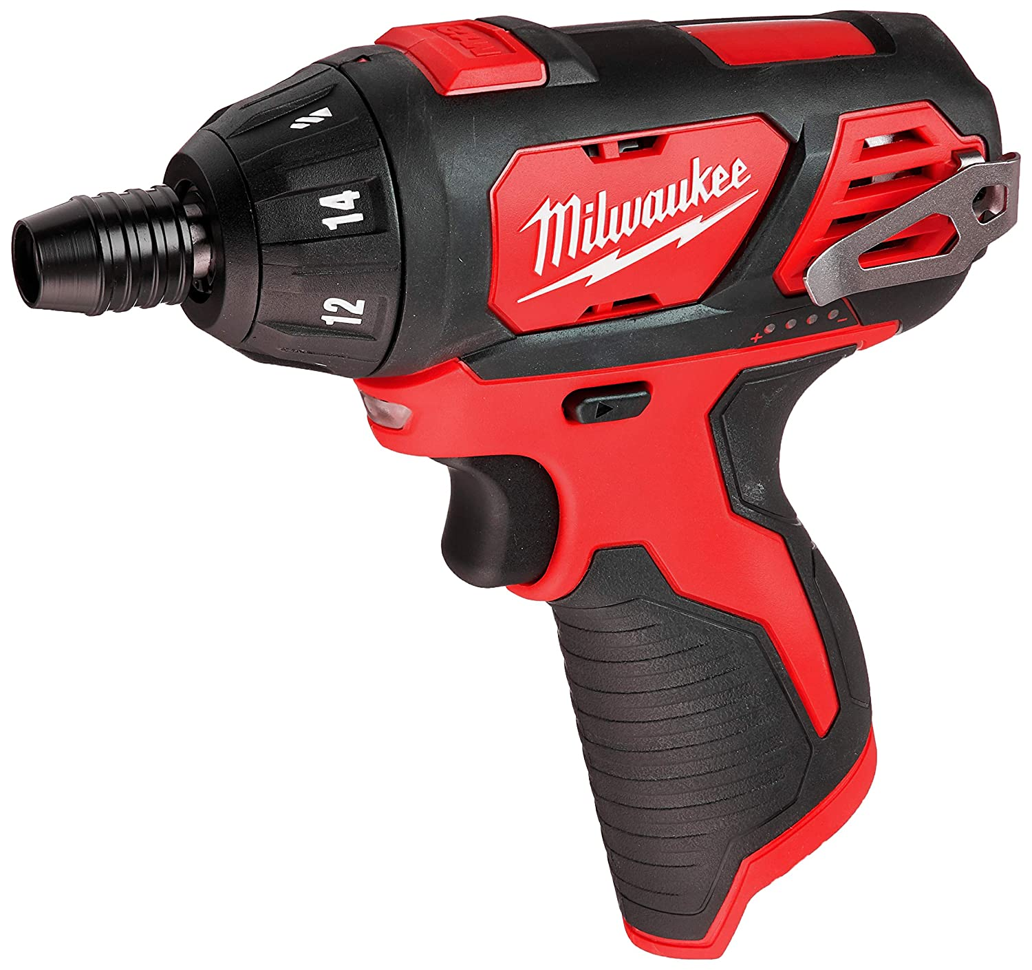 Milwaukee 2401-20 M12 12-Volt Lithium-Ion Cordless 1 4 in. Hex Screwdriver Tool-Only