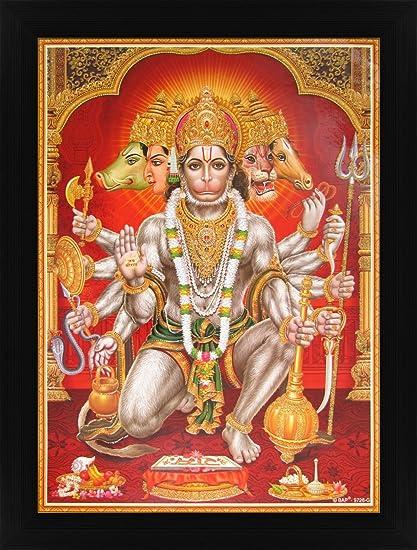 amazon com avercart lord hanuman shree hanumanji panchmukhi