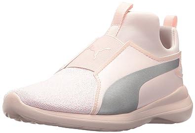 8f83e36ddf5 PUMA Kids' Rebel Mid Fashion Knit Sneaker
