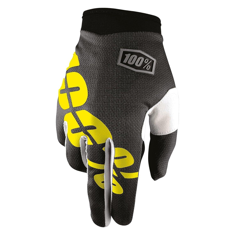 Unbekannt 100% iTrack Black Neon Yellow Motocross Guanto –  Nero Giallo Z5575-002-014
