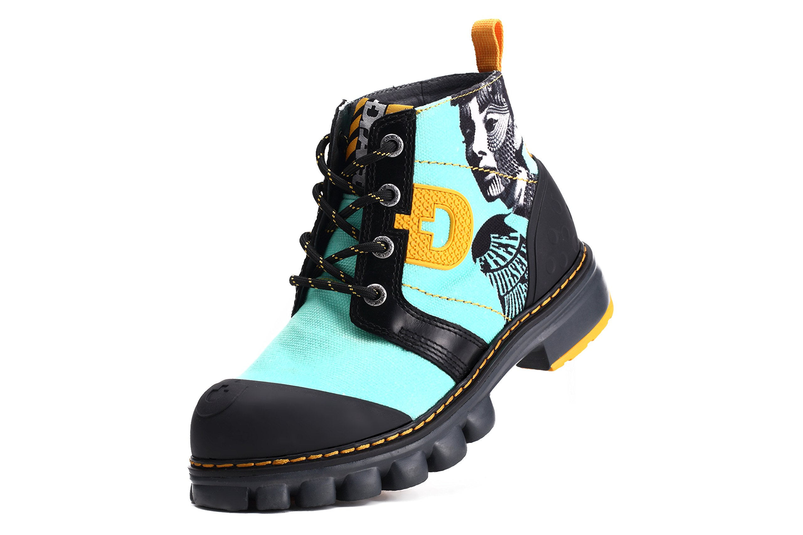Dr.Act Women's Singer Travel Canvas Boots Mint Green (7) by Dr.Act