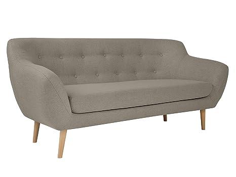Mazzini Sofas sofá, Sicilia, 3 plazas, Cappuccino, 188 x 76 ...