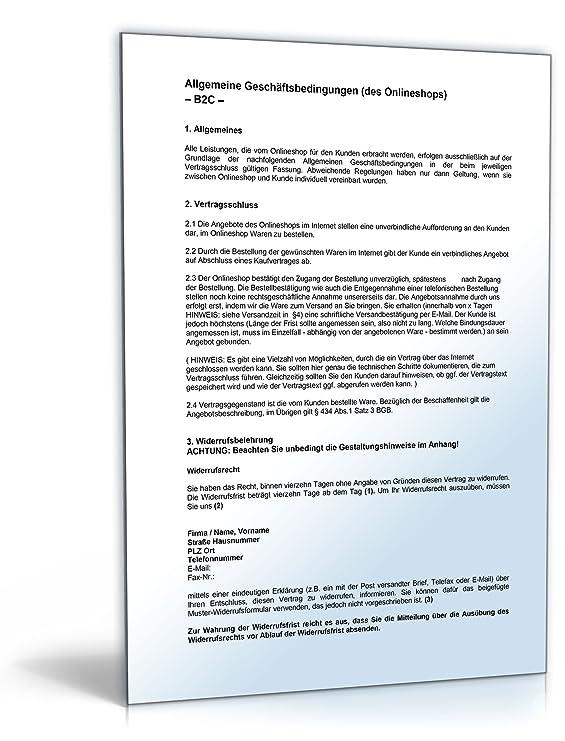 agb paket online shop zip ordner download amazonde software - Allgemeine Geschaftsbedingungen Muster