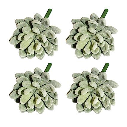 swebgo 4 piezas Suculentas Cactus Artificial Realista pequeñas de ...