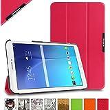 BeePole Custodia Protettiva Tri-Folder per Samsung Galaxy Tab E 9.6 (SM-T560/T561/T565/T567V), con Supporto, Roseo