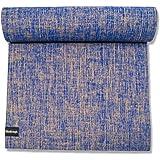 EcoStrength Blue Hemp and Jute Yoga Mat Eco-Friendly Non-Toxic Organic Jute and Hemp - Anti-Slip Anti-Bacterial - All Types Y