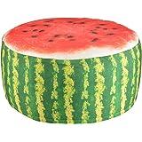 Fun Fruit Design Outdoor Pouffe Water Repellent Washable Garden Seat 58cm x 32.5cm (Watermelon)