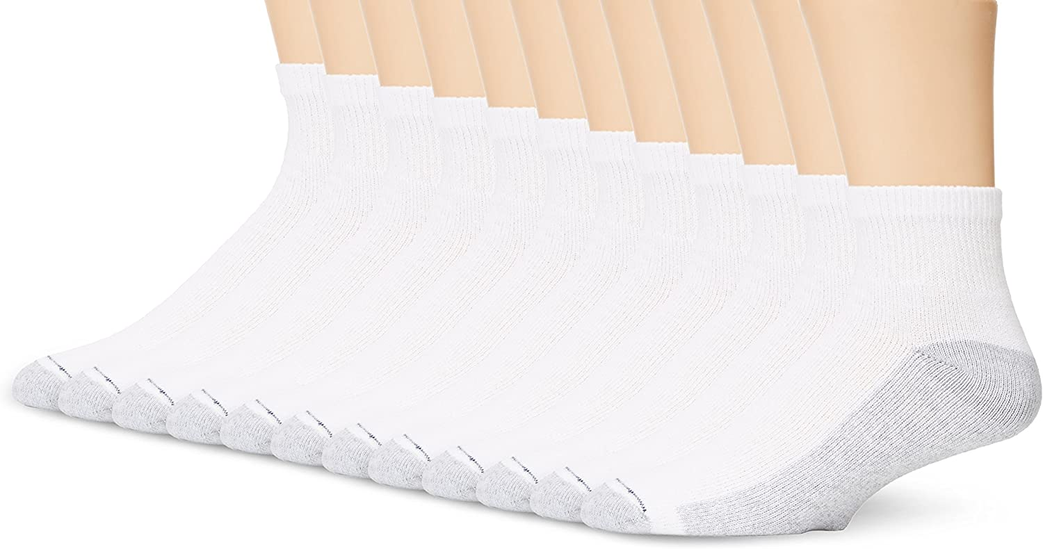 Hanes Men's Cushioned Control 6-Pack Ankle Socks