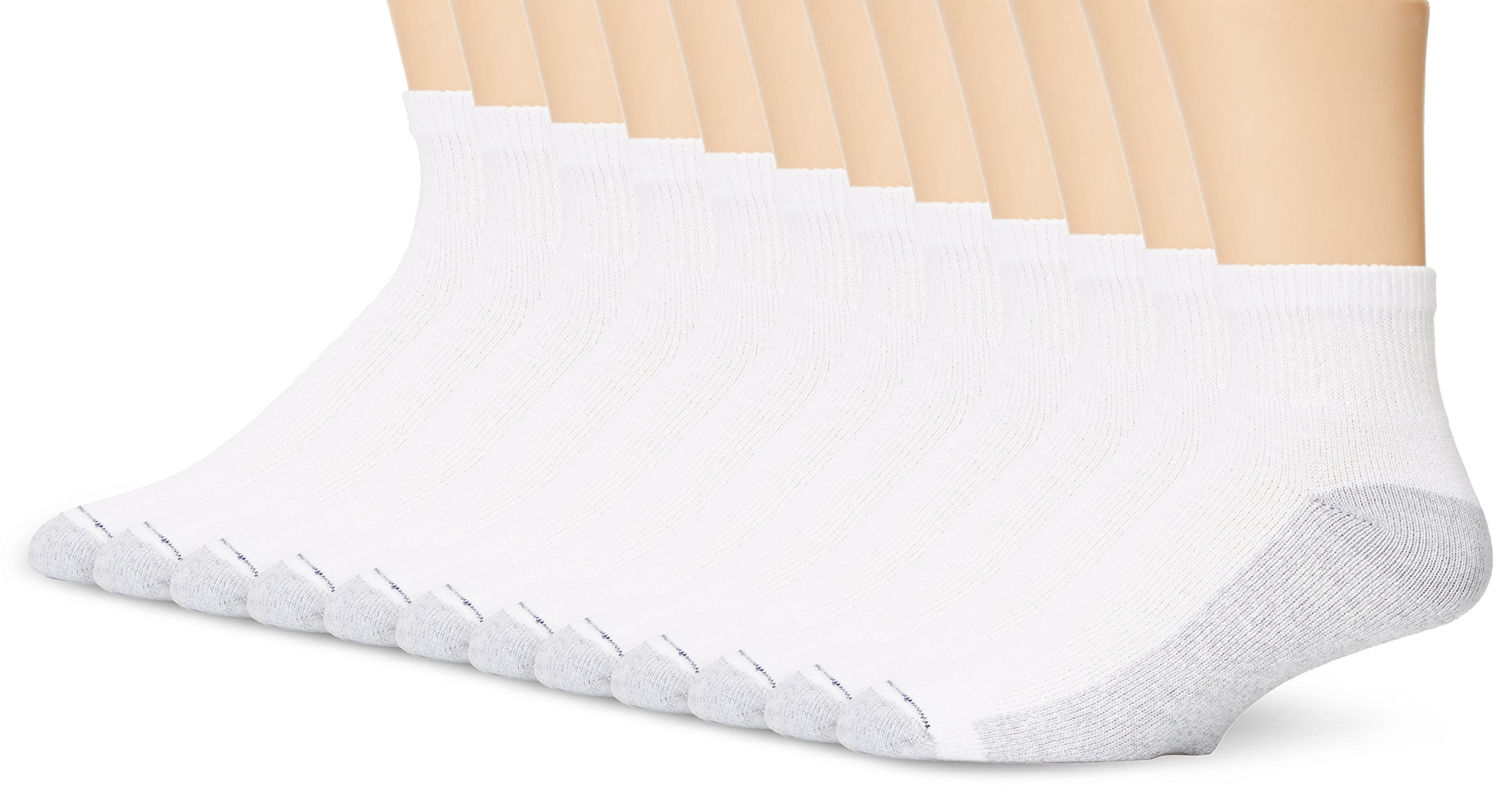 Hanes Men`s Ankle Socks, 186V12,12-Pack, 10-13, White (Shoe Size 6-12)