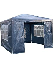 AirWave 3 x 3 m Party Tent Gazebo Marquee with Unique WindBar and Side Panels 120g Waterproof Canopy