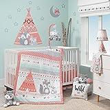 Lambs & Ivy Little Spirit Pink/White Fox & Teepee