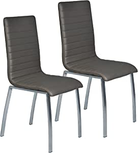 Amazon.com - Porthos Home DY005A Gry Richard Dining Chair ...