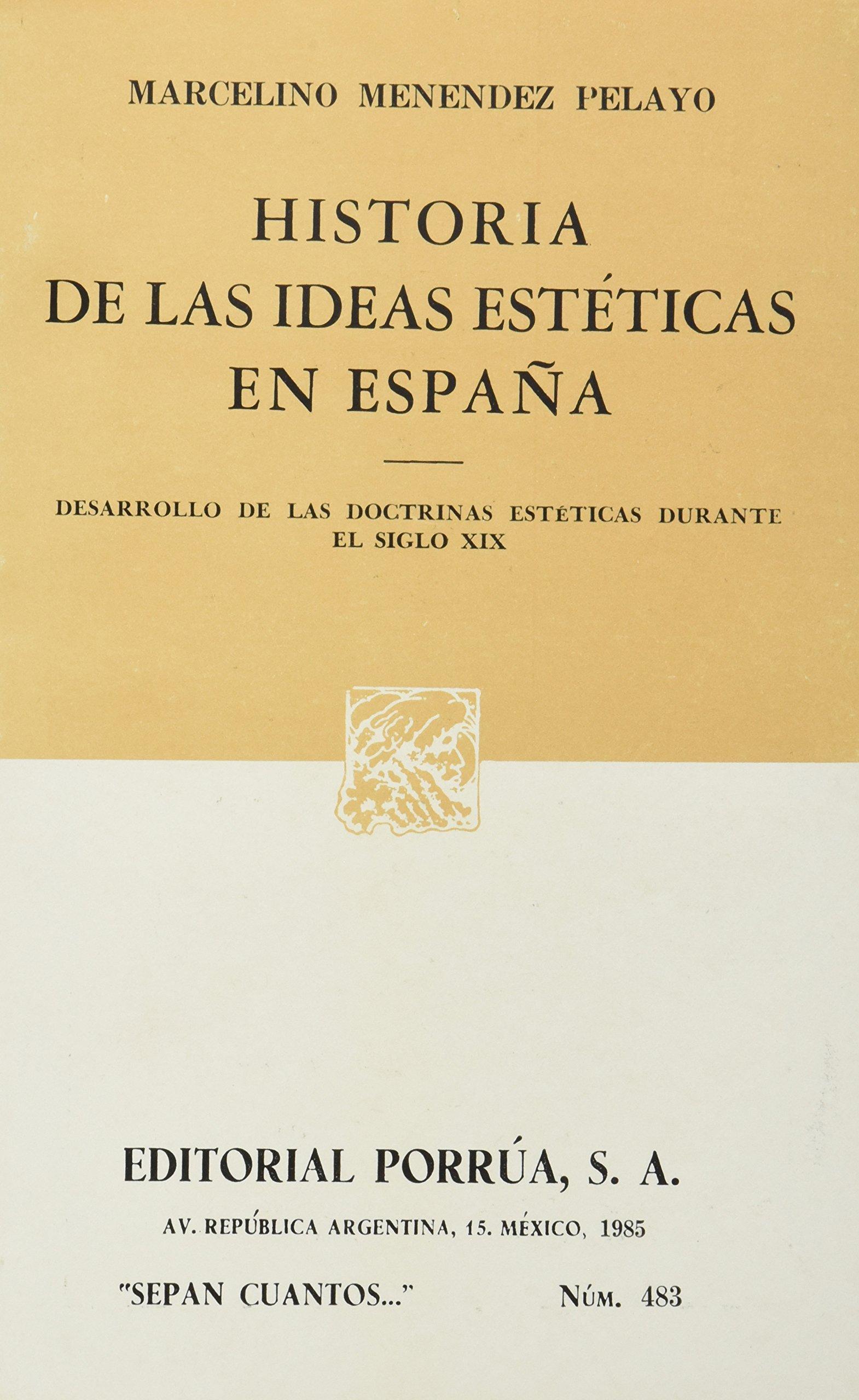 Historia de las ideas esteticas enespaña: Amazon.es: Menendez ...