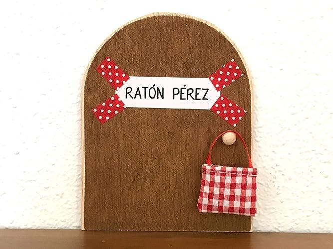 La auténtica puerta mágica del Ratoncito Pérez ♥ De regalo una preciosa bolsita de tela para dejar el diente. El Ratoncito Pérez, vendrá a por tu diente y ...