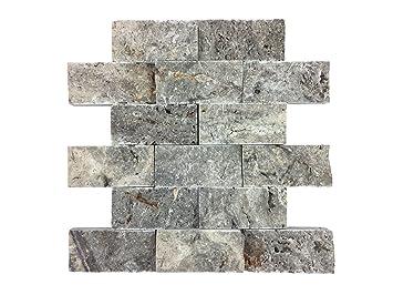 Naturstein Mosaik Aus Marmor Als Wandstein/Steinwand/Verblendstein |  Wandverkleidung Für Bad,