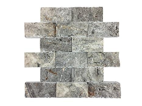 Mosaixx - Rivestimento in vera pietra per pareti bagno/cucina ...
