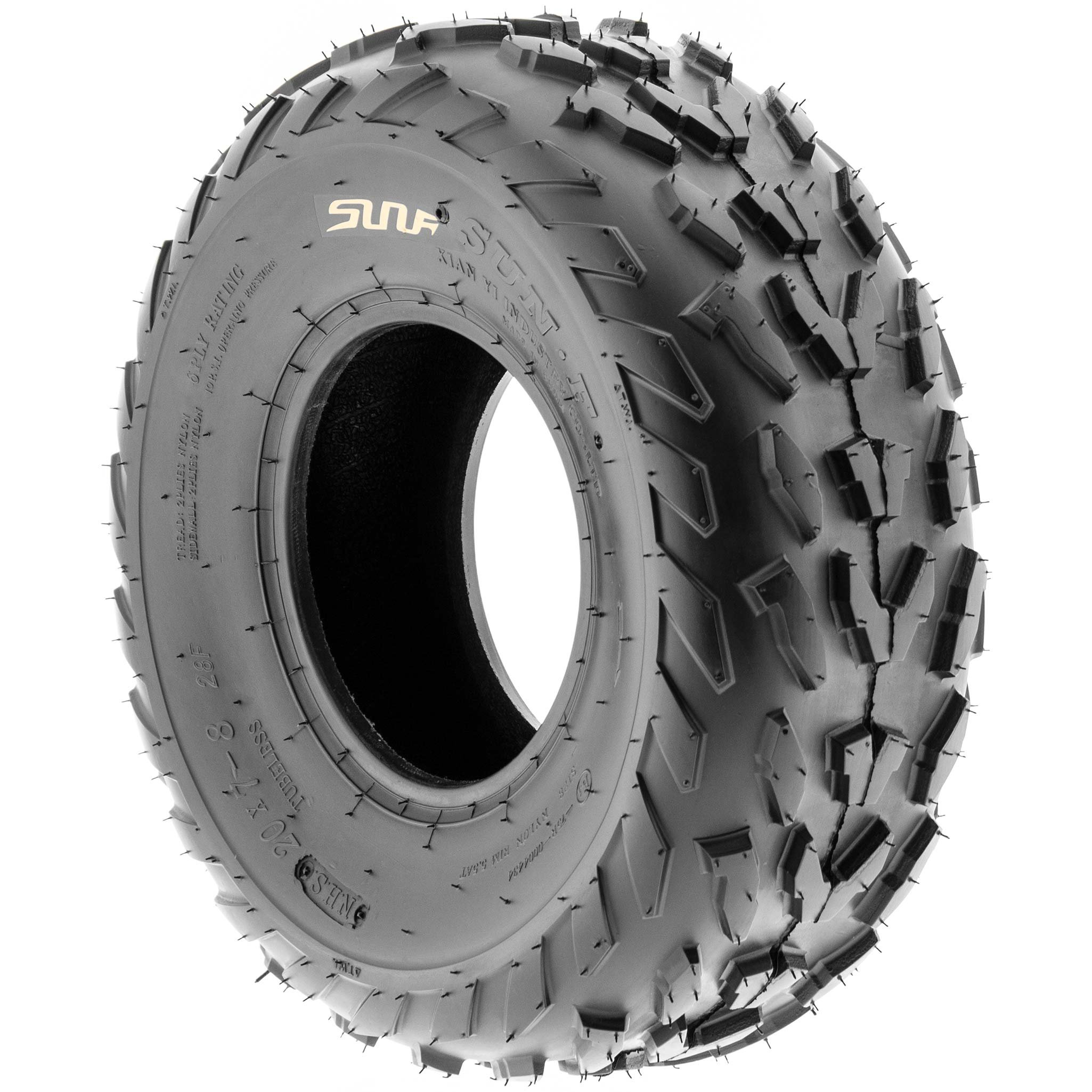 SunF 20x7-8 20x7x8 ATV UTV A/T Quad Race Replacement 6 PR Tubeless Tires A007, [Set of 2] by SunF (Image #5)