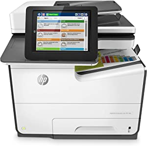 HP PageWide Enterprise 586f Color Multifunction Printer: Fast Print Speeds, Deep Security, Low Color Cost Per Page (G1W40A)
